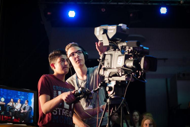 Mach' dein eigenes Programm in der Live-TV-Redaktion